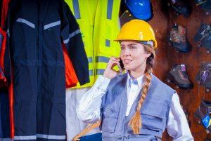 Femme chef d'entreprise dans le bâtiment
